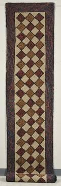 Geometric Pattern Hooked Wool Runner