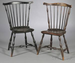 Two Windsor Fanback Side Chairs