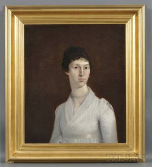 American School 19th Century Portrait of a Young Woman
