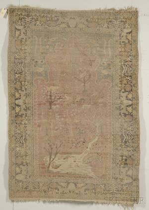 Northwest Persian Art Silk Mercerized Cotton Rug