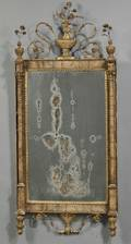Neoclassical Giltgesso and Pink Marble Bilbao Mirror