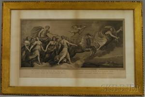 19th Century Italian Engraving Depicting a Mythological Scene After Raphael Morghen