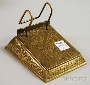 Tiffany Studios Giltbronze Zodiac Pattern Desk Calendar Holder