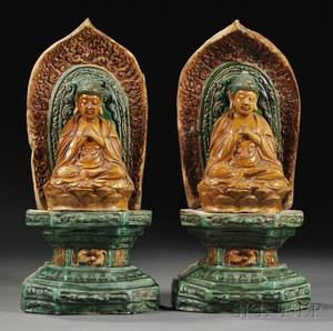 Pair of Sancai Buddhas
