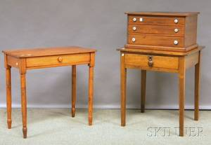 Three Pieces of Assorted Wood Furniture