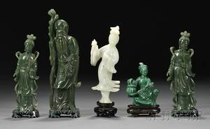 Five Hardstone Carvings