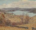 Elliot Bouton Torrey American 18671949 Autumn Landscape with Lake