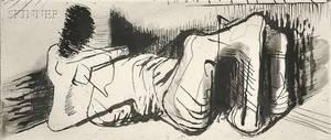 Henry Moore British 18981986 Reclining Figure II