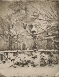 Theodore Roussel French 19141989 Three States of The Snow My Front Garden March 2nd
