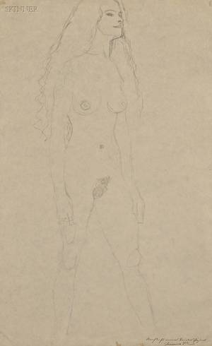 Gustav Klimt Austrian 18621918 Portrait of a Walking Female Nude c 1906