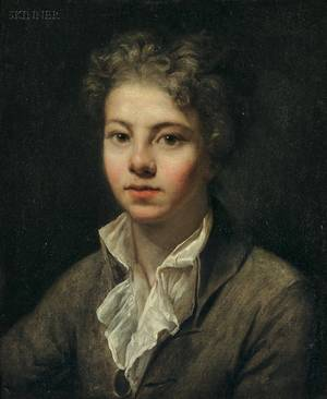 JeanBaptiste Greuze French 17251805 Portrait of a Young Man