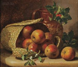 Eloise Harriet Stannard British c 18281915 Still Life with Apples in a Basket