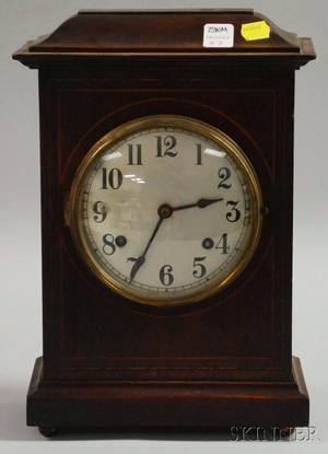 New Haven Mahogany English Market Mantel Clock