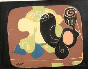 After Georges Braque French 18821963 Still Life with Fruit