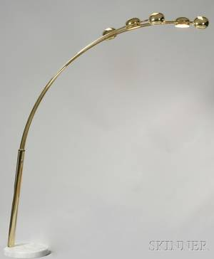 Brass and Marble Floor Lamp