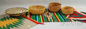 Seven Southwest Weavings and Basketry Items