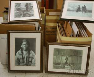Fiftyeight Framed Offset Prints After Edward S Curtis