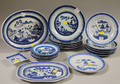 Eighteen Chinese Export Porcelain Canton Plates and Dishes with Two Platters