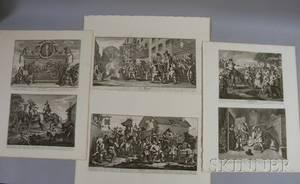 William Hogarth British 16971764 Suite of Twelve Engravings from Hudibras by Samuel Butler