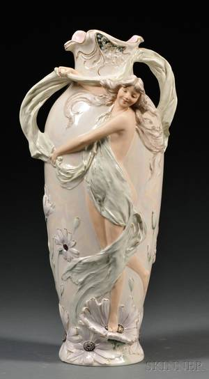 Royal Dux Art Nouveau Porcelain Vase