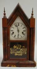 Mahogany Sharp Gothic Steeple Clock