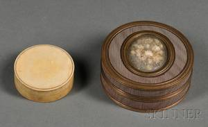 Two Circular Snuff Boxes