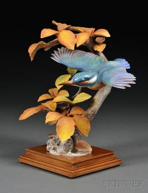Dorothy Doughty for Royal Worcester Bone China Kingfisher and Autumn Beech