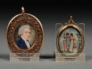 Two Miniature Portraits on Ivory