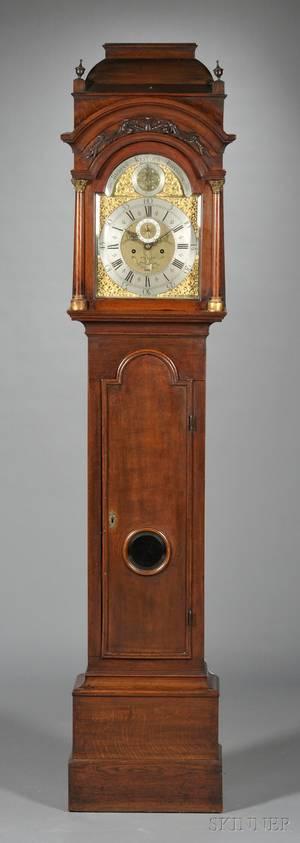 English Mahogany Tall Case Clock