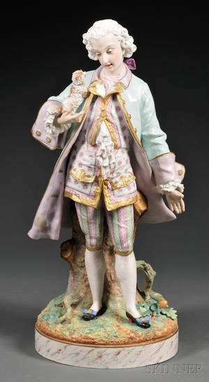 French Porcelain Figure of a Gentleman