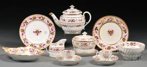 Fortyonepiece English Porcelain Partial Tea Service