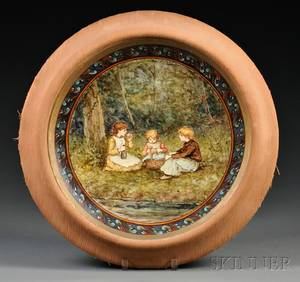 Doulton Lambeth Faience Handpainted Charger
