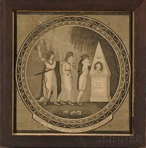 Framed Washington Mourning Engraving
