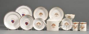 Eleven Assorted Chinese Export Porcelain Table Items