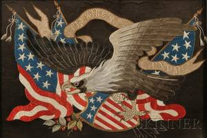 Chinese Export Patriotic American Eagle Needlework