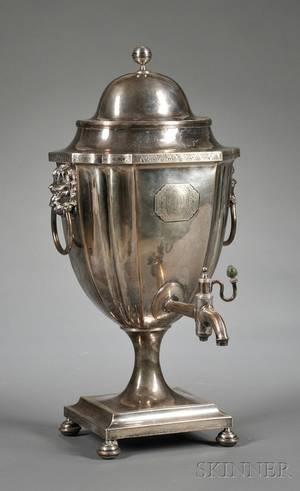 English Regency Silverplated Hot Water Kettle
