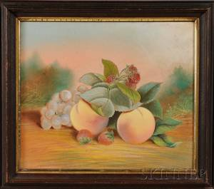John S Bower American Late 19thEarly 20th Century Lot of Two Works Still Life with Fruit