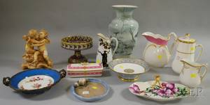 Twelve Assorted English and European Decorated Ceramic Items