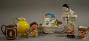 Seven Assorted Mostly English Ceramic Items and Figurals