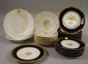 Twentyseven Pieces of German and French Porcelain Tableware