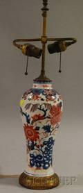 Japanese Imari Porcelain VaseTable Lamp
