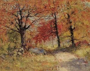 Henry Hammond Ahl American 18691953 Autumn Woods
