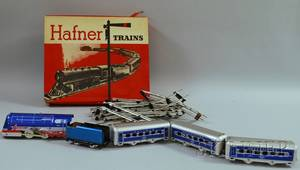 Hafner Windup Tin Locomotive Train Set