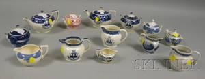 Thirteen Assorted Wedgwood Transferdecorated Ceramic Tea Service Items