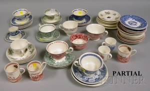 Large Lot of Assorted Wedgwood Decorated Ceramic Cups and Saucers