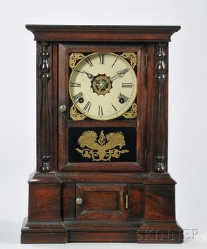 Rosewood Shelf Clock the Atkins Clock Company