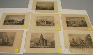 Seven 19th Century Prints Depicting German City Views