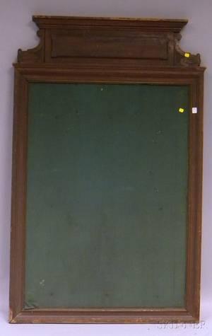 French Carved Oak Framed Bulletin Board