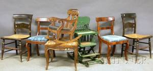 Twelve Pieces of Assorted 19th Century Seating