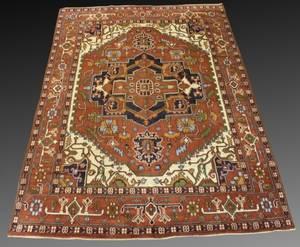 Hand Woven Persian Heriz 9 9 x 13 9